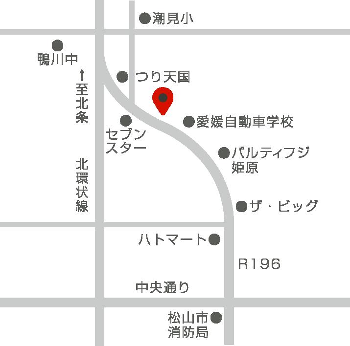 東四国本社の地図